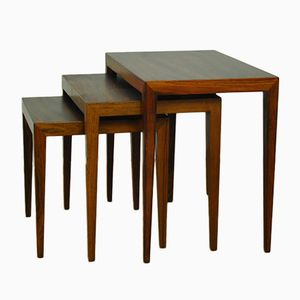 Nesting Tables by Severin Hansen for Haslev, 1950s