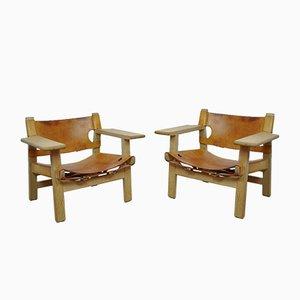 Spanische Sessel von Borge Mogensen für Fredericia, 1960er, 2er Set