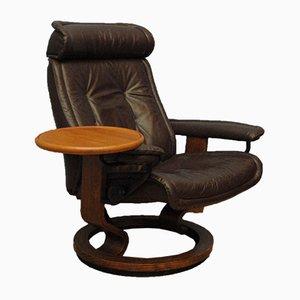 Skandinavischer Stressless Sessel Mit Ablage, 1960er