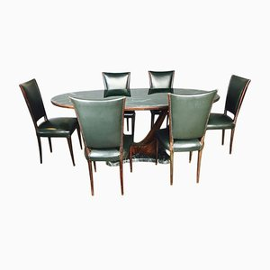 Mid-Century Table & 4 Chairs from Dassi