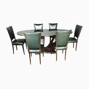Tavolo Mid-Century con 6 sedie di Dassi