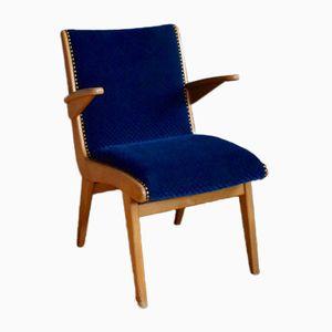 Modernist Velvet Armchair, 1950s