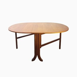Mid-Century Fold Out Teak Dining Table from Nathan, 1980s