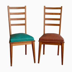Mid-Century Modernist French Chairs, Set of 2
