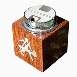 Danish Mid-Century Rosewood Lighter with Silver Inlay