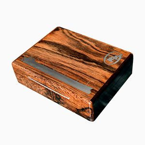 Danish Mid-Century Rosewood Box with Silver Inlays