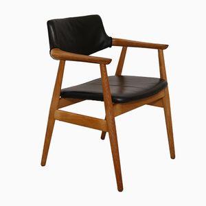 Chaise de Bureau Vintage par Erik Kirkegaard pour Glostrop, Danemark