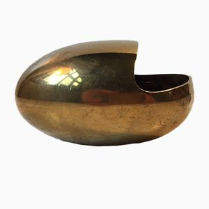 Danish Modernist The Smile Brass Ashtray by Carl Cohr, 1950s