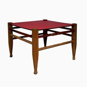 Viereckiger Roter Vintage Safari Tisch