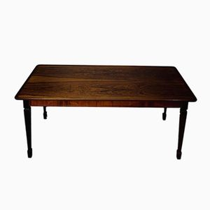 Table Basse Vintage Rectangulaire en Placage de Palissandre