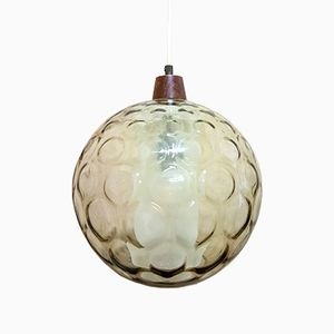 Vintage Amber Glass Pendant Lamp