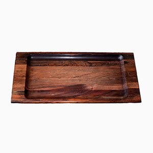 Mid-Century Solid Rosewood Serving Tray