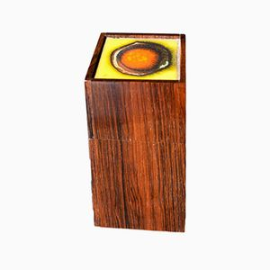 Vintage Rosewood Box with Enamel by Alfred Klitgaard & Bodil Eje for Klitgaard