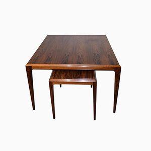 Vintage Rosewood Tables by Johannes Andersen for CFC Silkeborg, Set of 2