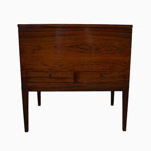 Rosewood Veneer Sewing Table by Preben Henning Nielsen for Holbæk Møbelfabrik, 1957