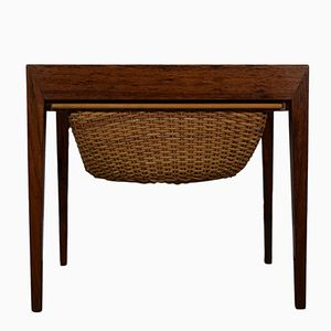 Vintage Rosewood Sewing Table by Severin Hansen