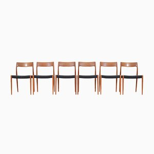 Vintage 77 Chairs by Niels Otto Møller for J.L. Møllers, Set of 6