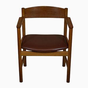 Mid-Century Modell 3235 Armlehnstuhl aus Eichenholz von Børge Mogensen für Fredericia
