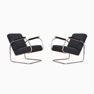 Vintage Cantilever Armchairs by Jindrich Halabala for UP Závody, Set of 2