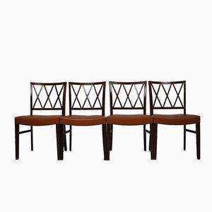 Vintage Palisander Esszimmerstühle von Ole Wanscher für Slagelse Møbelværk, 4er Set