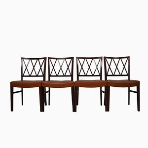 Vintage Rosewood Dining Chairs by Ole Wanscher for Slagelse Møbelværk, Set of 4