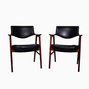 Mid-Century Teak Armchairs by Erik Kirkegaard, Set of 2