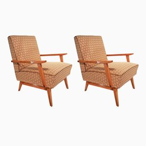 Club Chairs in Sycamore, 1950s, Set of 2