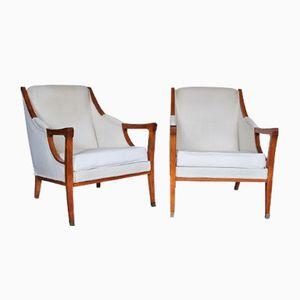Spanish Art Nouveau Armchairs, Set of 2