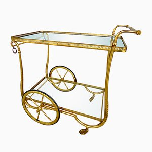Mid-Century Serving Cart on Wheels