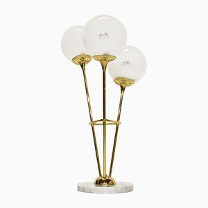 Mid-Century Tischlampe aus Messing & Murano Glas, 1960er