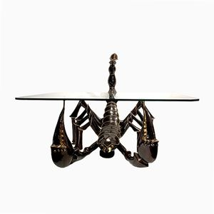 Bronze Scorpion Coffee Table by Jacques Duval-Brasseur, 1970s