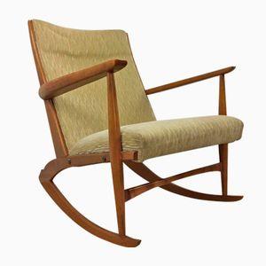 Sedia a dondolo di Georg Jensen per Kubus, anni '60