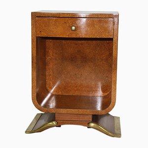 Vintage Art Deco Tisch aus Bernsteingelbem Wurzelholz