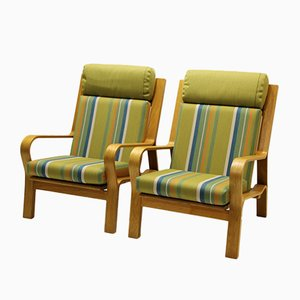 Vintage Modell GE671 Sessel von Hans J. Wegner für Getama, 2er Set