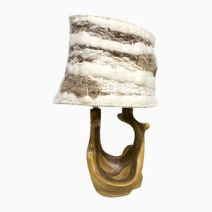 Vintage Italian Natural Organic Ceramic Table Lamp