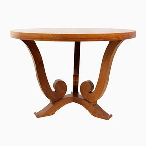 Art Deco Walnut Veneer Coffee Table, 1920s