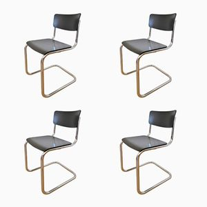 S43 Cantilever Chairs by Mart Stam for Thonet, 1988, Set of 4