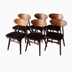 Vintage Esszimmerstühle von Louis van Teeffelen für WéBé, 6er Set