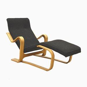 Chaise longue in betulla di Marcel Breuer per Isokon, anni '50