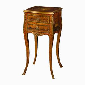 French Lacquered, Golden, and Painted Side Table, 1920s