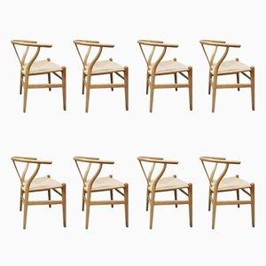 Vintage CH24 Wishbone Stühle von Hans Wegner für Carl Hansen & Søn, 8er Set