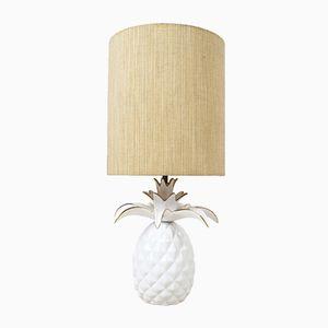 Französische Vintage Keramik Ananas Lampe
