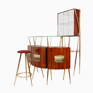 Italienisches Mid-Century Bar Set, 1960er