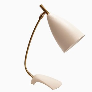 White Mid-Century Table Lamp