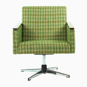 Green Swivel Chairs from Drevoimpregna, 1960s, Set of 2
