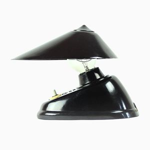 Vintage Black Bakelite Office Lamp from ESC, 1930s