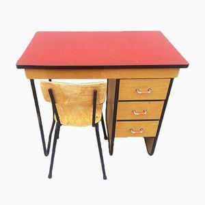 Vintage Desk & Chair, 1960s