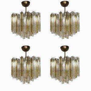 Vintage Trilobo Deckenlampen von Venini, 1960er, 4er Set