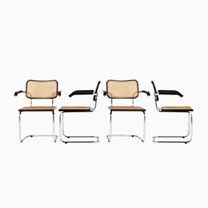 Casca B64 Armchairs by Marcel Breuer for Thonet, 1970s, Set of 4
