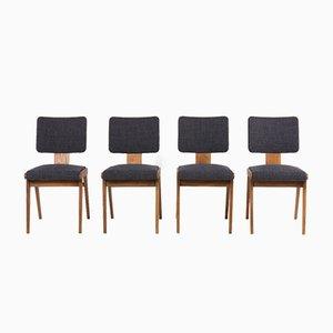 Esszimmerstühle von André Sornay, 1950er, 4er Set